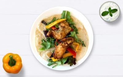Crispy chicken ranch salad wrap