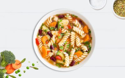Easy veggie minestrone soup